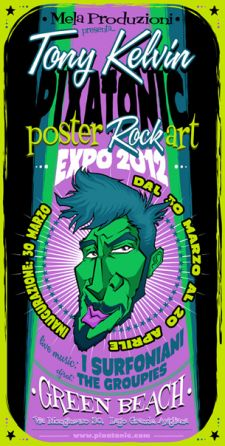 Tony Kelvin | PIXATONIC - Poster Rock Art Expo 2012